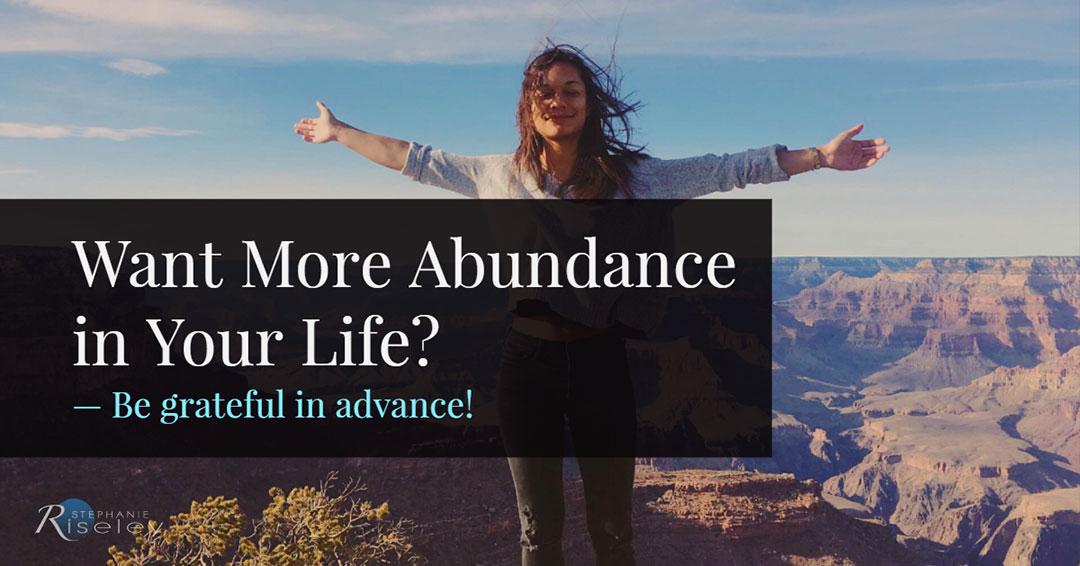 More Abundance